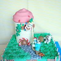Rapunzel in icecream castle