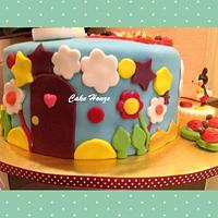 Disney Clubhouse cake by CakeHouze