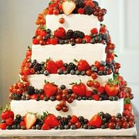 Berry Theme Wedding Cake