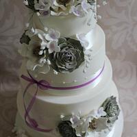 Magnolia Wedding Cake.