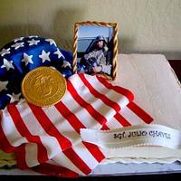 Deployment Flag Cake