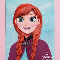Anna, 2D fondant cake decoration