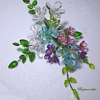 Sweet bouquet with butterfly