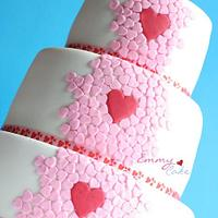 Lots of heart cake