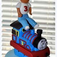Thomas the Train Village Cake by Hope Crocker