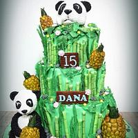Panda love pineapple cake