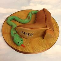 There's a Snake in my Boot - a Toy story 20yr collaboration
