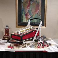 Yukon Quest Dogsled Race Banquet Cake