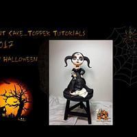 Miss Halloween Blythe met Jack Skellington en Zero