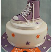 Converse Trainer Birthday Cake by Emma