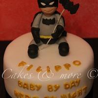 Baby Batman cake by Elli & Mary