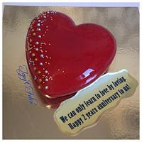 Heart cake- mirror glaze