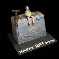 Tradie Plumber Tool Box Cake