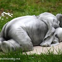 Baby Elephant Cake 'Dumbo'  by Hannah
