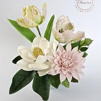 Magnolia, Dahlia and Tulip Parrot