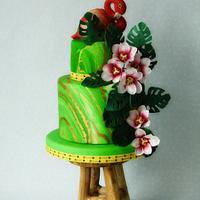 Birthday flamingo cake