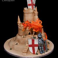 St Georges Day Dragon and Knight by Cakes by Nina Camberley