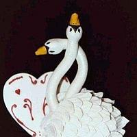 Gumpaste Swan Topper