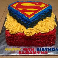 My 1st superman cake