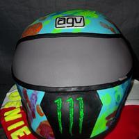 Rossi AGV helmet cake