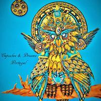 GOD OWL OF DREAMS - THREADCAKES 2015