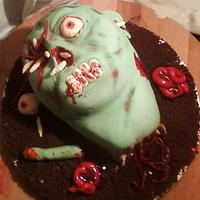 zombie head cake by kelly