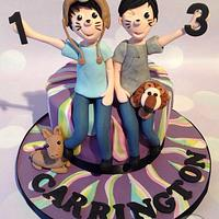 Dan & Phil Phandom cake