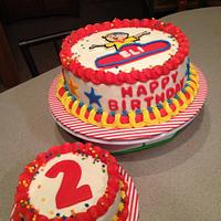 Caillou Birthday Cake and Smash Cake
