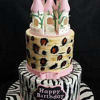Jungle and Castle Birthday Cake