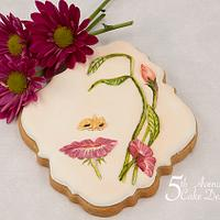 Surreal Floral Face Cookie using Negative Space 🌸🌺💐