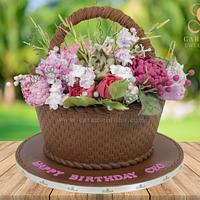 Basket of Flower Cake