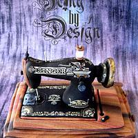 7 cm high mini Singer Sewing machine
