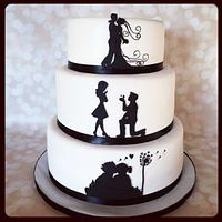 Silhouette love story