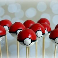 Pokeball Cake Pops :)