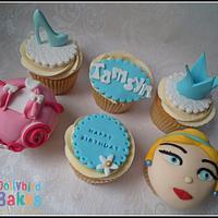 Cinderella Themed Cupcakes
