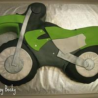 Kawasaki Dirt Bike Cake