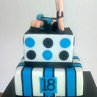 Weight Lifting themed cake
