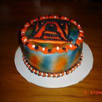 A small Auburn cake