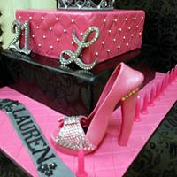 Princess Bling Cake for Lauren