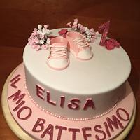 Baptism-Birthday cake