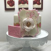 Cokie topper fondant cake