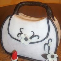 Hand bag cake for a fashionista