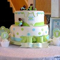 Three Little Bears Baby Shower Cake