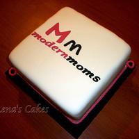 Logo cake by Eleni Katsaraki