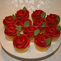 Ruby Wedding Rose cupcakes