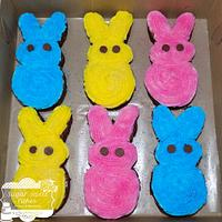 Peep Bunny Brownies