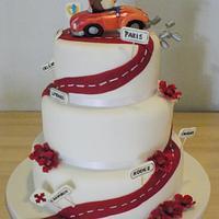 Sports car wedding cake
