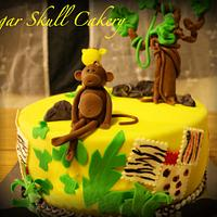 Safari Themed Baby Shower Cake III