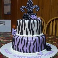 Zebra/Fleur De Lis