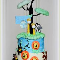 Jungle cake for a little man..